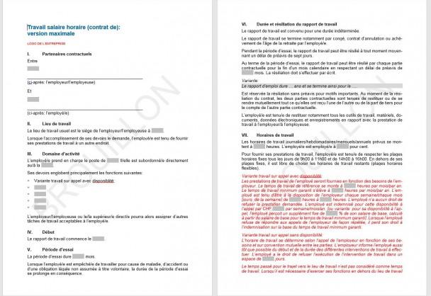 Download contrat de travail salaire horaire upsa agvs for Salaire horaire jardinier